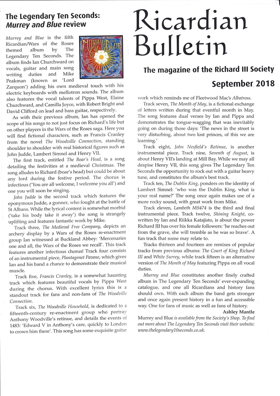 Murrey and blue review Ricardian Bulletin